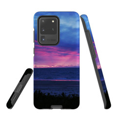 Samsung Galaxy S20 Ultra/S20+/S20, S10 5G, S10+/S10/S10e, S9+/S9, S8+/S8, S7e/S7 Case Protective Cover, Sunset at the Beach | iCoverLover Australia