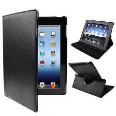 Black Rotatable Leather iPad 2 / iPad 3 / iPad 4 Case | Cool iPad 2, 3, 4 Cases | iPad 2, 3, 4 Covers | iCoverLover