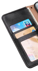 Samsung Galaxy S20/20+ Plus/20 Ultra 4G 5G Genuine Leather Luxury Wallet, Black Case | iCoverLover Australia