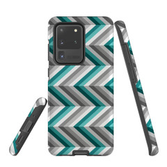 For Samsung Galaxy S10 5G Protective Case, Zigzag Blue Grey Pattern   iCoverLover Australia