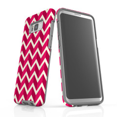 For Samsung Galaxy S10 5G Protective Case, Zigzag Magenta Pattern | iCoverLover Australia