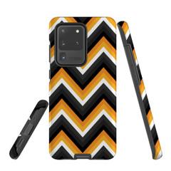 For Samsung Galaxy S10 5G Protective Case, Zigzag Black Orange  Pattern | iCoverLover Australia