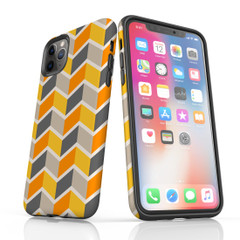 For iPhone 11 Pro Max Protective Case, Zigzag Yellow Pattern | iCoverLover Australia
