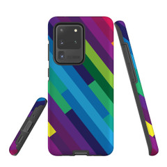 For Samsung Galaxy S10 5G Protective Case, Rainbow Pattern | iCoverLover Australia