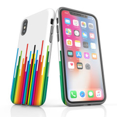 For iPhone 11 Pro Max Protective Case, Rainbow Bar Pattern   iCoverLover Australia