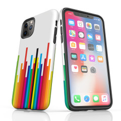 For iPhone 11 Pro Max Protective Case, Rainbow Bar Pattern | iCoverLover Australia