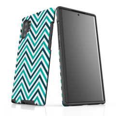 For Samsung Galaxy Note 10 Plus Protective Case, Zigzag Turquoise Pattern | iCoverLover Australia