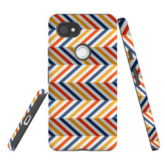 For Google Pixel 2 Protective Case, Zigzag Left Right Colorful Pattern | iCoverLover Australia