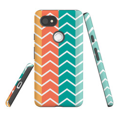 For Google Pixel 2 Protective Case, Zigzag Colorful Pattern | iCoverLover Australia