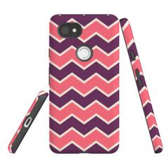 For Google Pixel 2 Protective Case, Zigzag Pink Purple Pattern | iCoverLover Australia
