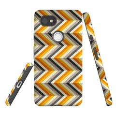 For Google Pixel 2 Protective Case, Zigzag Left Right Yellow Pattern | iCoverLover Australia
