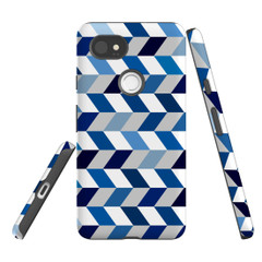 For Google Pixel 2 Protective Case, Zigzag Chevron Pattern | iCoverLover Australia