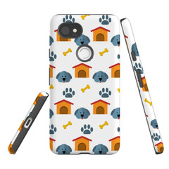 For Google Pixel 2 Protective Case, Dog Pattern | iCoverLover Australia