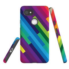 For Google Pixel 2 Protective Case, Rainbow Pattern | iCoverLover Australia