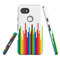 For Google Pixel 2 Protective Case, Rainbow Bar Pattern | iCoverLover Australia