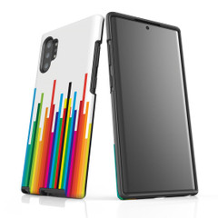 For Samsung Galaxy Note 10 Plus Protective Case, Rainbow Bar Pattern   iCoverLover Australia