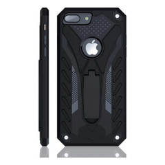 iPhone 8 PLUS Case, Armour Strong Shockproof Tough Cover with Kickstand Black