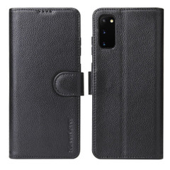 Samsung Galaxy S20/20+ Plus/20 Ultra Case iCoverLover Genuine Cow Leather Wallet Cover Black   iCoverLover Australia