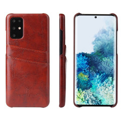 Samsung Galaxy S21 Ultra/S21+ Plus/S21/S20/20+/S20 Ultra Case Deluxe Leather Protective Cover Brown | iCoverLover Australia