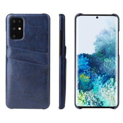 Samsung Galaxy S21 Ultra/S21+ Plus/S21/S20/20+/S20 Ultra Case Deluxe Leather Protective Cover Blue | iCoverLover Australia