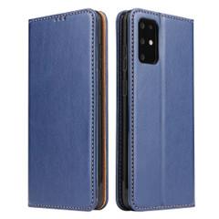 Samsung Galaxy S21 Ultra/S21+ Plus/S21/S20/20+/S20 Ultra Case Leather Flip Wallet Folio Cover Blue   iCoverLover Australia