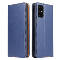 Samsung Galaxy S21 Ultra/S21+ Plus/S21/S20/20+/S20 Ultra Case Leather Flip Wallet Folio Cover Blue | iCoverLover Australia