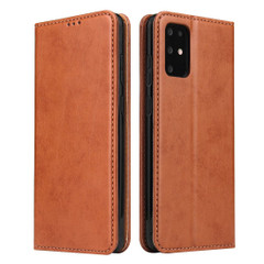 Samsung Galaxy S21 Ultra/S21+ Plus/S21/S20/20+/S20 Ultra Case Leather Flip Wallet Folio Cover Brown   iCoverLover Australia