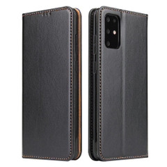 Samsung Galaxy S21 Ultra/S21+ Plus/S21/S20/20+/S20 Ultra Case Leather Flip Wallet Folio Cover Black   iCoverLover Australia