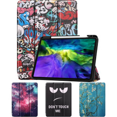 iPad Pro 11in (2020) Case, Drawing PU Leather Cover with 3-Fold Stand, Sleep/Wake Function, Pen Slot   iCoverLover Australia