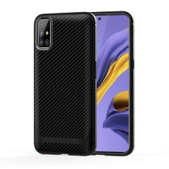 For Samsung Galaxy A51 Case, Carbon Fiber Texture TPU Protective Cover | iCoverLover Australia