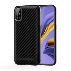 For Samsung Galaxy A51 Case, Carbon Fiber Texture TPU Protective Cover | iCoverLover Australia