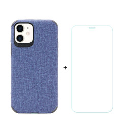 iPhone 11, 11 Pro & 11 Pro Max Case Denim Texture Blue Cover & Tempered Glass Screen Protector | iCoverLover Australia