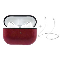 Apple AirPods Pro Case Protective Cover with Anti-Lost Rope & Hook Red