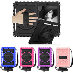 iPad 10.2in (2021,2020,2019) , 360 Rotating Cover, Pencil Holder, Stand, Shoulder & Hand StrapiPad Cases   iCoverLover.com.au
