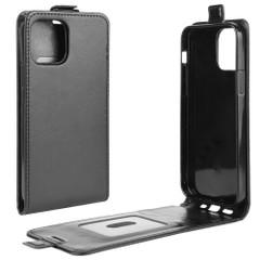 For iPhone 12 Pro Max/12 Pro/12 mini Vertical Flip PU Leather Protective Case, Black | iCoverLover Australia