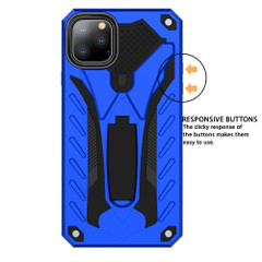 iPhone 12 Pro Max/12 Pro/12 mini Case, Armour Strong Shockproof Tough Cover with Kickstand, Blue