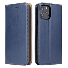 iPhone 12 Pro Max/12 Pro/12 mini Case, Leather Flip Wallet Folio Cover with Stand, Blue | iCoverLover Australia