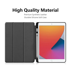 iPad 10.2in (2019) Case Smart Cover with Pen Slot Black