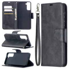 For Samsung Galaxy S21 Ultra/S21+ Plus Case, Folio PU Leather Wallet Cover, Stand & Lanyard, Black | iCoverLover.com.au | Phone Cases