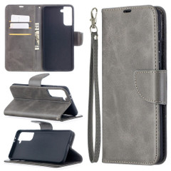For Samsung Galaxy S21 Ultra/S21+ Plus Case, Folio PU Leather Wallet Cover, Stand & Lanyard, Grey | iCoverLover.com.au | Phone Cases