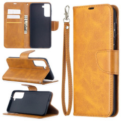 For Samsung Galaxy S21 Ultra/S21+ Plus Case, Folio PU Leather Wallet Cover, Stand & Lanyard, Yellow | iCoverLover.com.au | Phone Cases