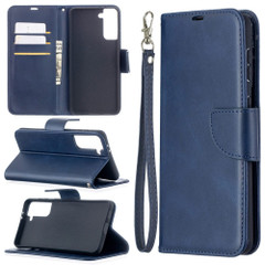 For Samsung Galaxy S21 Ultra/S21+ Plus Case, Folio PU Leather Wallet Cover, Stand & Lanyard, Blue | iCoverLover.com.au | Phone Cases