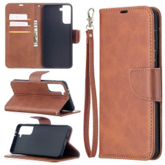 For Samsung Galaxy S21 Ultra/S21+ Plus Case, Folio PU Leather Wallet Cover, Stand & Lanyard, Brown | iCoverLover.com.au | Phone Cases
