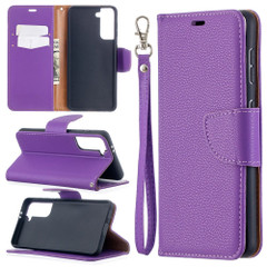 For Samsung Galaxy S21 Ultra/S21 Case, Lychee Texture Folio PU Leather Wallet Cover, Stand & Lanyard, Purple | iCoverLover.com.au | Phone Cases