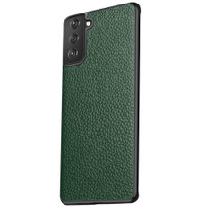 Samsung Galaxy S21 Ultra/S21+ Plus/S21 Case, Genuine Leather Slim Fit Protective Cover, Green | iCoverLover Australia