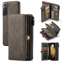 For Samsung Galaxy S21 Ultra/S21+ Plus/S21 Case Detachable Multi-functional Folio Leather Cover, Brown | iCoverLover.com.au | Phone Cases