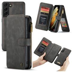 For Samsung Galaxy S21 Ultra/S21+ Plus/S21 Case Wild Horse Texture PU Leather Folio Case, Black   iCoverLover.com.au   Phone Cases