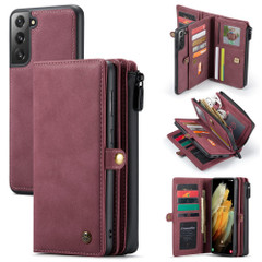 For Samsung Galaxy S21 Ultra/S21+ Plus/S21 Case Detachable Multi-functional Folio Leather Cover, Red | iCoverLover.com.au | Phone Cases