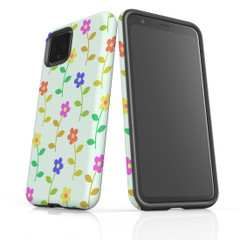 Google Pixel 5/4a 5G,4a,4 XL,4/3XL,3 Case, Tough Protective Back Cover, Flowers Colourful | iCoverLover Australia