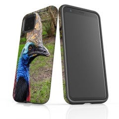 Google Pixel 5/4a 5G,4a,4 XL,4/3XL,3 Case, Tough Protective Back Cover, Cassowary | iCoverLover Australia